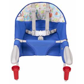 Cadeira De Refeição Portátil P/ Mesa Azul C/ Cinto 5 Pontos
