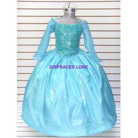 Disfraz Vestido Elsa Frozen De Lujo Anna Sofia Bella Niñas
