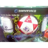 Kit Combo Accion Tamanaco Balon Futbol Nro 3