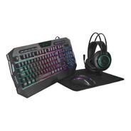 Combo Gamer Vsg Crux Teclado Mouse Pad Auricular Led Pc Usb