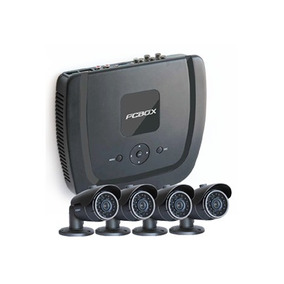 Kit De Seguridad Equipado Con 4 Cámaras Hd Pcbox Para Hogar