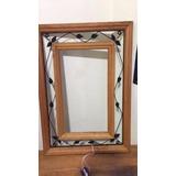 Moldura P/ Espelho Madeira De Demolição Peroba Rosa C/ Ferro