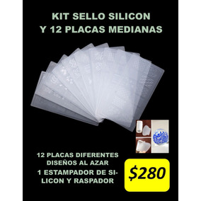 Kit Placas Y Sello De Silicon Para Uñas