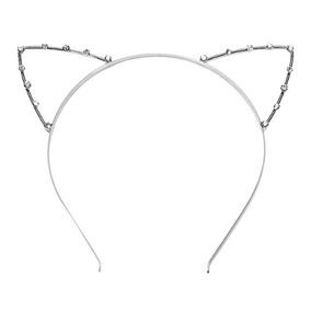 Rhinestone Linda Diadema Con Gato Orejas Disfraces Para