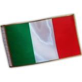 Bandera+mástil Escrit.italia Tela Estampada 15x25cm.(104130)