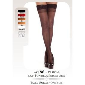 Medias C Liga Siliconada Pasion Cocot Talle Unico T 86 Panty
