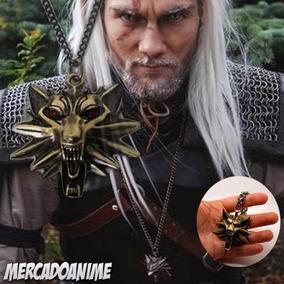 Colar The Witcher Metal Lobo Geralt De Rivia Saga