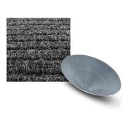 Carpete Canelado Garimpo Embor. Cinz. Esc. 1m² E Bateia 54cm