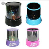 Lámpara Veladora Infantil Con Proyector De Estrellas. Led