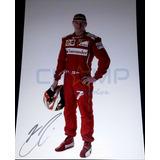 Poster Autografiado Kimi Raikkonen Formula 1 Ferrari F1 Gp