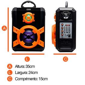Caixa De Som Bluetooth 80wrms Oex C/microfone Sk600