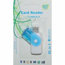 411 Leitor De Cartão Multimídia - Tipo Pen Drive Lc 400