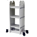 Escada Multifuncional 5131 4 X 3 Em Alumínio 12 Degraus- Mor