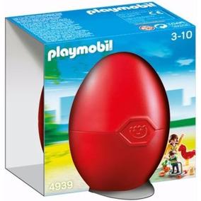 Retromex Playmobil 4939 Huevo Niños Con Juegos Ciudad Parque