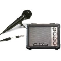 Combo Karaoke Para Niño Amplificador 5w Microfono Con Cable