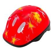Capacete Infantil Vermelho Bike Skate Patins Patinete Ajuste