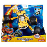 Fisher Price Blaze Vehiculos Articulables Stripes Supertrans