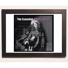 Quadro Poster C.moldura Disco The Essential Janis Joplin.