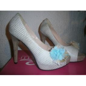 Zapatillas # 3.5 Color Crema Hermosas