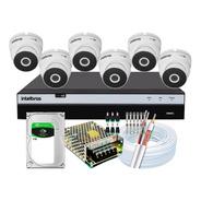 Kit Full Hd Intelbras 6 Cameras 4x1 Dome Vhd 3220d 3108 2mp