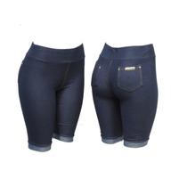 Bermuda Legging Malha Jeans (imita Jeans)
