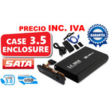 Case Enclosure Disco Duro 3.5 Sata Usb 3.0 Precio Inc. Iva