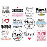 100 Plantillas Madres Digital Frases Sublimacion Taza Frasco