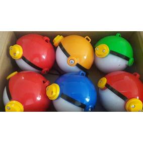Caja X 6 Pokebolas Atrapa Pokemon C/distintos Muñecos