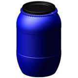 Bombona Plástica Tambor 200litros Com Tampa Removível Azul