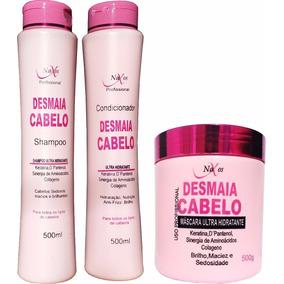 Kit Desmaia Cabelo: Máscara, Shampoo E Condicionador Naxos