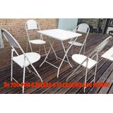 Mesas E Cadeiras Dobraveis De Ferro Usadas