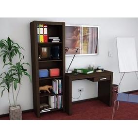 Combo Escritorio + Biblioteca Reproex R10130 Tabaco 24-248