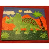 Cuadros Niños Decoración Dinosaurios Acrílico