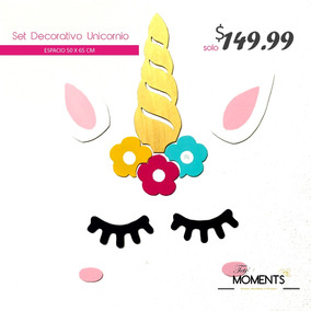 Set Pestañas Unicornio Cotillon Mdf