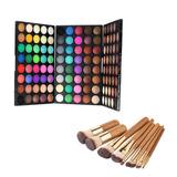 120 Colores Paleta De Sombreador De Ojos Mate Shimmer + 9pcs