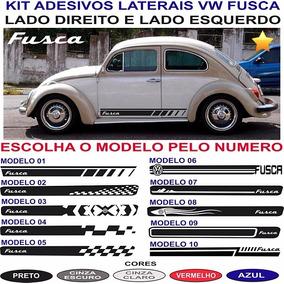 Acessorios Volkswagen Fusca Adesivos Laterais Par Faixas