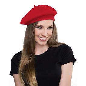 Sombrero De Boina Roja De Lana Canguro- Boina Francesa 7584e90114f