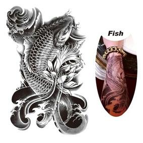 Tatuagem Temporária Carpa / Peixe (01 Peça) - Frete $7,00