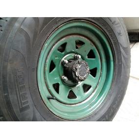 Jogo Roda Pneus 265/70/16 5 Furos Jeep Rural F1000 F75