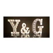 3 Iniciales Letras 60 Cm Luces Led Polyfan Nombres Luminosos
