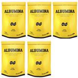 5 X Albumina Refil 500g - Naturovos ( Natural/sem Sabor)