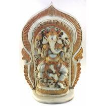 Ganesha Deusa Estatua Estatueta Escultura Indiana Branca 54