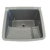 Tanque De Lavar 21 Litros Em Pvc Cor Alumínio