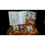 Souvenirs Libro Colorear+ 6 Lapices Animales,luna,violetta,