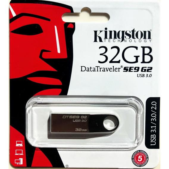 Pendrive 32gb Kingston Dt Se9 G2 Usb 3.1 / 3.0 / 2.0 Metalic