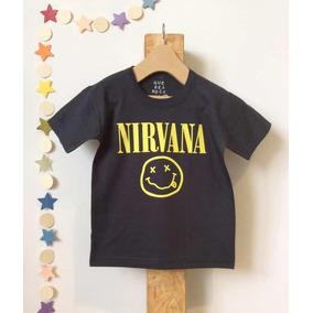 Remera Nirvana Niños Estampada En Serigrafía
