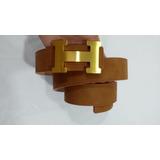 6f88d5f40ef Cinto Hermes Couro Caramelo Com Fivela Dourado Lançamento
