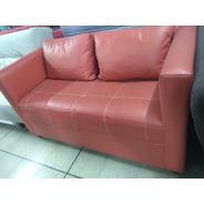 Sillon Sofa  2 Cuerpos Ivor Rojo Color Living