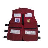 Colete Bombeiros Voluntários Vermelho Em Cordura