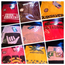 Kit 10 Camisetas Quicksilver Oakley Billabong Oakley Element